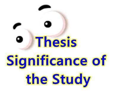 Significance of the study in research paper pdf